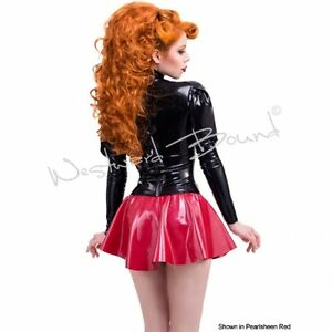 X231 **MADE+DESIGNED IN UK** Latex *RED*  Westward Bound Skating Skirt 10