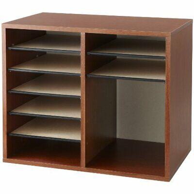Safco Adjustable 12-compt. Literature Organizer - Desktop - 12 Compartments -