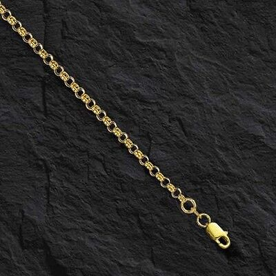 14k Yellow Gold Round Cable ROLO Link Pendant Chain/Necklace 20