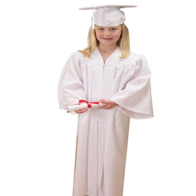 Childs White Graduation Cap And - White Cap And Gown