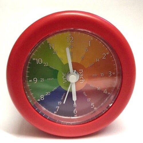 MEBUS KINDERLERN-WECKER Kinderuhr Uhr Wecker mit Quarzuhrwerk - ROT - NEU OVP