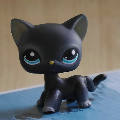 - LPS COLLECTION Action Figure gift  BLACK cat kitty 2 inch LITTLEST PET SHOP #994