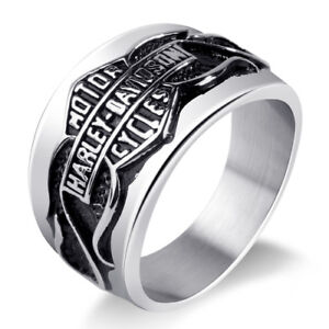 Stainless steel size 12 Harley Davidson rings 100% NEW