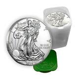 1 oz Silver American Eagle Coins BU (Lot, Roll, Tube of 20)