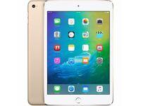 Apple iPad Mini 4, 128GB, 7.9in, Wi-Fi - Gold (brand new, still sealed)