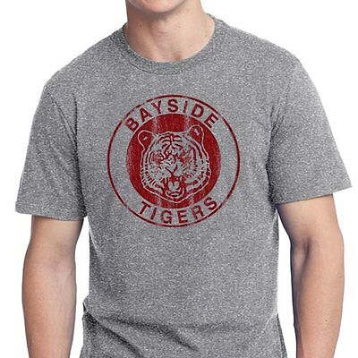 BAYSIDE TIGERS T SHIRT TEE the VINTAGE 80'S retro tv High School Saved by Bell