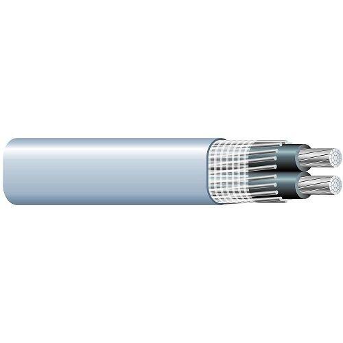 Per Foot 2/0-2/0-2/0 Aluminum Seu Service Entrance Cable Pvc Jacket Gray 600v