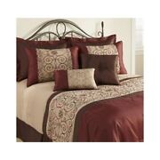 Brown Red Comforter Set Queen