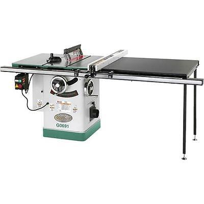 "G0691 Grizzly 10"" 3HP 220V Cabinet Table Saw with Long Rails & Riving Knife for sale  Bellingham"