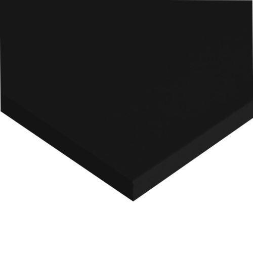 "PVC Expanded Plastic Sheet 1/4"" x 24"" x 48"" - Black^"