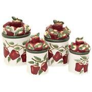 red apple cookie jar ebay. Black Bedroom Furniture Sets. Home Design Ideas