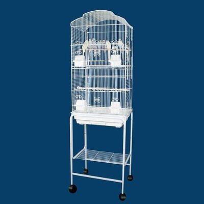 """63"""" New Large Canary Parakeet Cockatiel LoveBird Finch Bird Cage White Stand 444"""