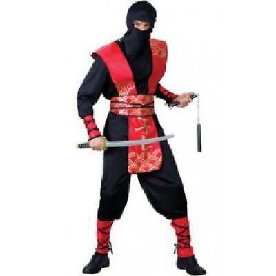 NINJA MASTER ADULT COSTUME FANCY DRESS UP - Ninja Master Adult Kostüm