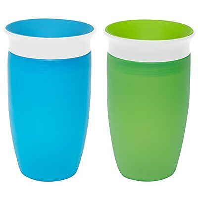 Munchkin Miracle 360 Sippy Cup Green/Blue 10oz 2 Count, New
