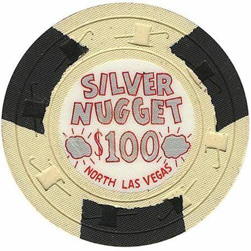Silver Nugget Casino N. Las Vegas NV $100 Chip 1965