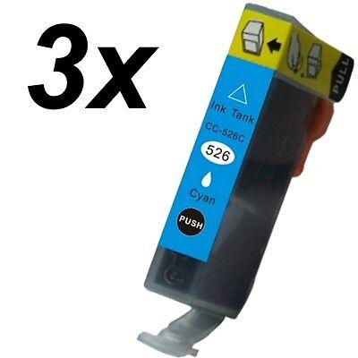 3 x Druckertinte für Canon Pixma CLI-526C MG 8250 online kaufen
