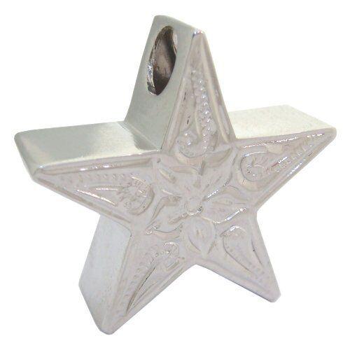 Hawaiian Heirloom Jewelry Star Sterling Silver Plumeria Flower Charm Pendant
