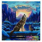 Crystal Art kit Howling wolves 30 x 30 cm