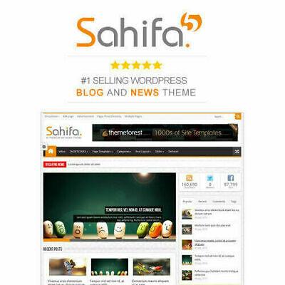 Sahifa Responsive Wordpress News Magazine Blog Theme Lastest Version