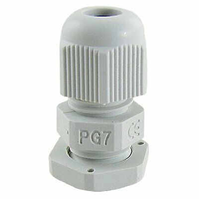 10 Pcs 3-6.5mm Pg7 White Nylon Waterproof Cable Connect Cord Grip Cable Gland