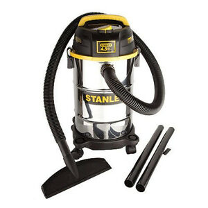 Stanley Stainless Steel 5 Gallon 4.5 Peak HP Wet/Dry Vacuum! Shop Garage Vac