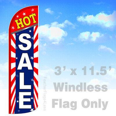 HOT SALE - Windless Swooper Flag 3x11.5 Feather Banner Sign - Starburst bq