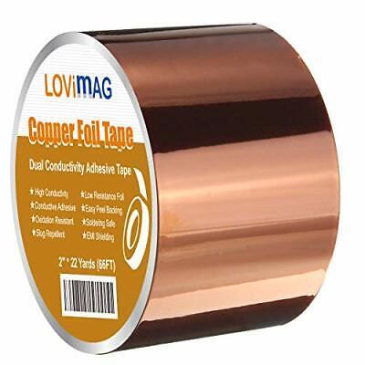 Copper Foil Tape 2inch X 33 Ft W Conductive Adhesive For Guitar Emi Shielding