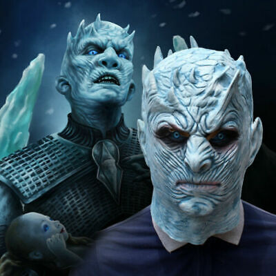 Halloween Game of Thrones White Walker Zombie Mask NIGHT'S KING Cosplay Costume
