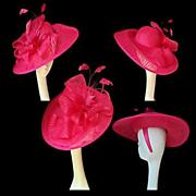 Cerise Wedding Hat
