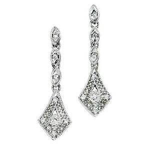 Art Deco Diamond Earrings