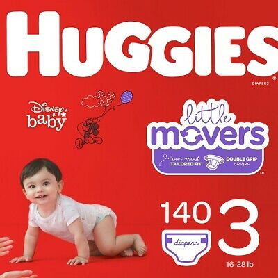 Huggies Little Movers Diapers, Size 3, 140 Ct
