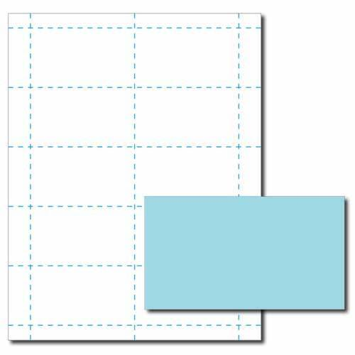 Blue Business Card Printer Paper – 100 Sheets (Yields 1000 Cards)