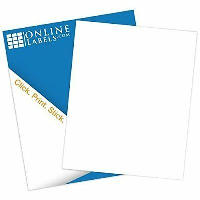 Online Labels - 8.5 X 11 Waterproof Polyester Sticker Paper - No Back Slit