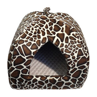 ROSEWOOD ANIMAL PRINT CAT IGLOO  PYRAMID BED  16