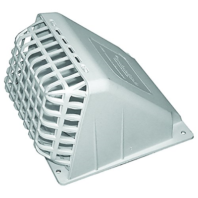 "4"" Deflecto Dryer Vent Hood White Exhaust Fan Cover Wide Mou"