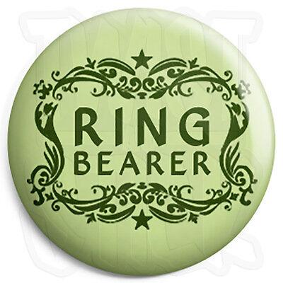 Ring Bearer - 25mm Wedding Button Badge - Civil Partnership - Stag & Hen Party](Ring Bearer Badge)