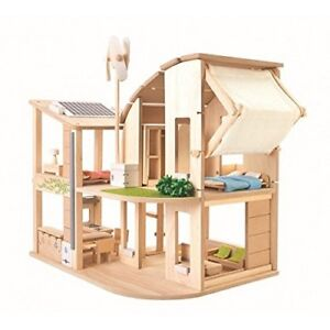 Plan Toys Green DollHouse w/ Furniture Plus Accossories Sets