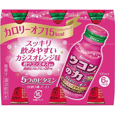 Ukon no Chikara Low-calorie Energy Drinks 100ml x 6 F/S Cassis and Orange Flavor