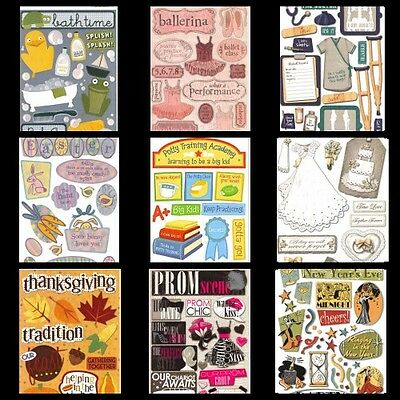Karen Foster Cardstock STICKERS for Scrapbooking BABY PROM EASTER LOVE NEW YEARS - Stickers For Scrapbooking