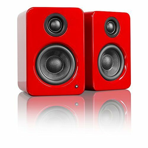 """Kanto YU2 3"""" 2-Way Powered Desktop Speakers (Pair) Gloss Red YU2GR"""