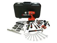 Black & Decker Tool Box - 132 piece cordless drill driver set - Like New !