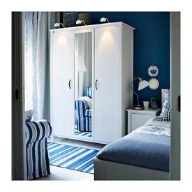 3 door wardrobe with mirror free delivery