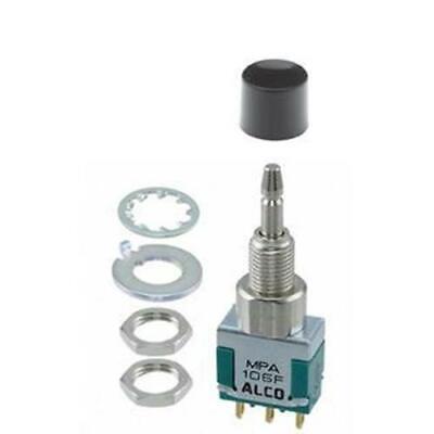 Alcoswitch Mpa106f Spdt On-on Mini Push Button Switch 6a125v 4a28v Dc