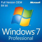 Microsoft Windows 7 Professional Operating System Software