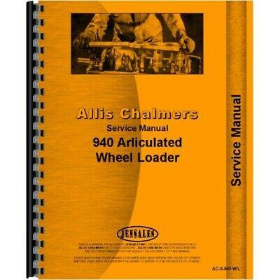 Allis Chalmers 940 Wheel Loader Service Manual Ac-s-940 Wl