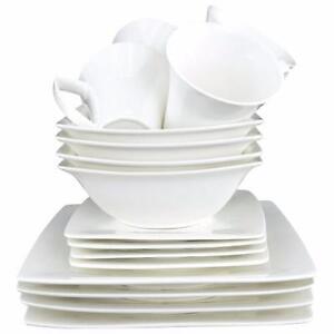 Tannex Du Lait 16-Piece Dinner Set (94500) - White - – Brand New