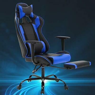BEST Racing Style Recliner Gaming Chair w/ Footrest / Lumbar Support &