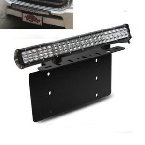 For Ford Truck Car 126W LED Light Bar USA Front License Plate Mount Bracket