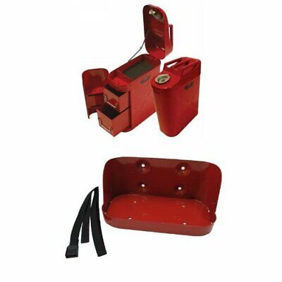 Toolbox Jeep Storage Box Organizer SUV Off Road Mudding Gas Can Steel Red (Suv Tool Boxes)