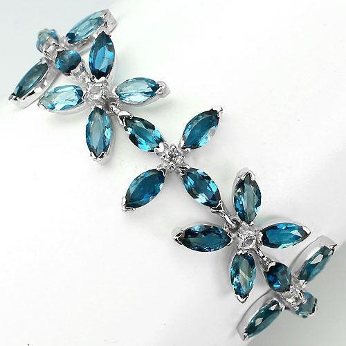 London Blue Topaz Bracelet Ebay